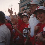 Cheering on Wisconsin in the 1994 Rose Bowl.