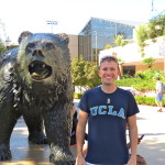 Bruin Bear statue on the Westwood campus