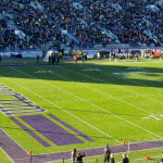 The shadow of Ryan Field's south tower