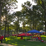 Fantastic tailgating grove outside of the stadium